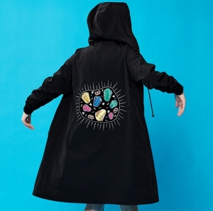 CRYSTAL CANDY RAINCOAT (BLACK)