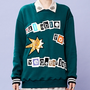 VEGETARIAN SWEATSHIRT - GREEN