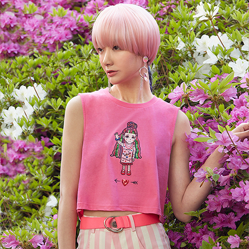 VVV PINK DOLL CROP TOP