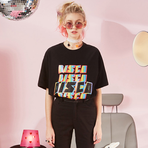 VVV BLACK DISCO T-SHIRT