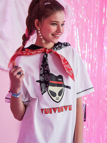 VVV WHITE ALIEN VUI T-SHIRT