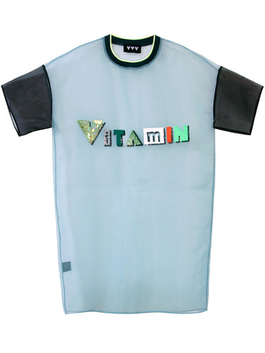 VITAMIN LOGO DRESS - GREEN
