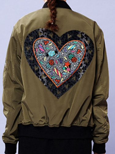 SWEET HEART JUMPER - KHAKI