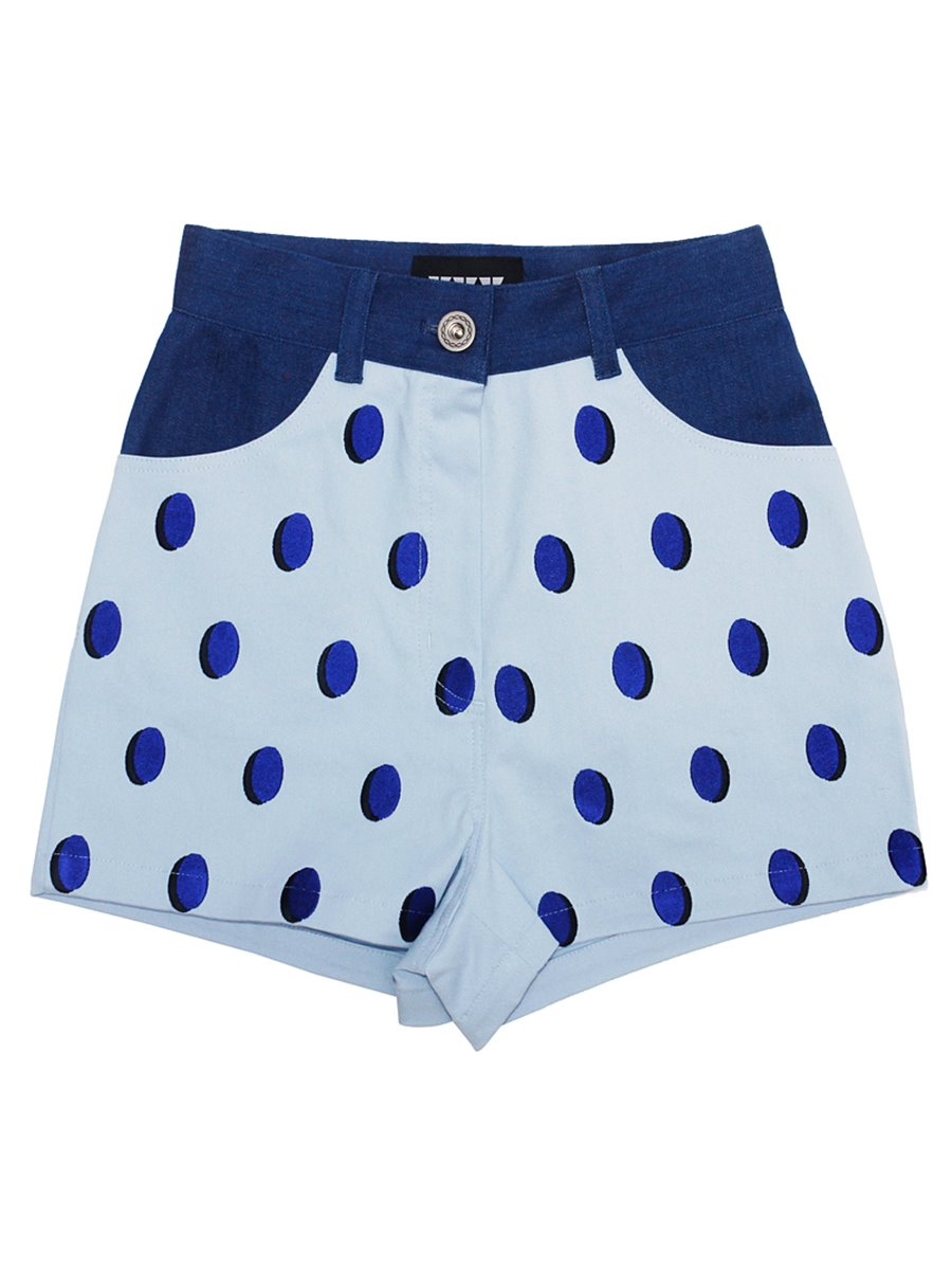 STRAWBERRY DOTS PANTS (BLUE)