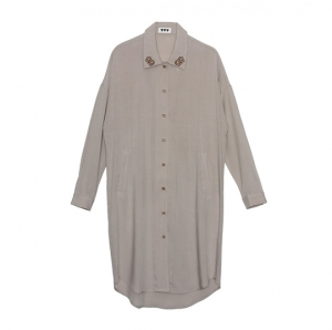 VVV PRETZEL LONG SHIRT (BEIGE)