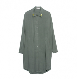 VVV LIGHTNING LONG SHIRT (KHAKI)