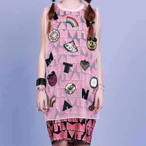 SMILE FRUITS SLEEVELESS TOP (PINK)