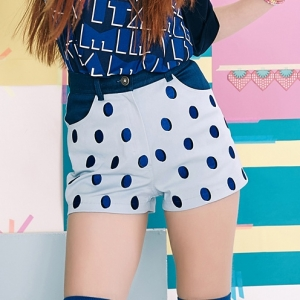[CLC 엘키,예은 착용]  STRAWBERRY DOTS PANTS (BLUE)