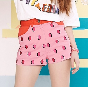 [CLC 엘키,예은 착용] STRAWBERRY DOTS PANTS (PINK)