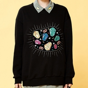 CRYSTAL CANDY SWEATSHIRT (BLACK)