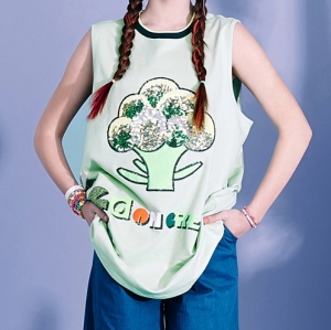 BROCCOLI SLEEVELESS TOP (GREEN)