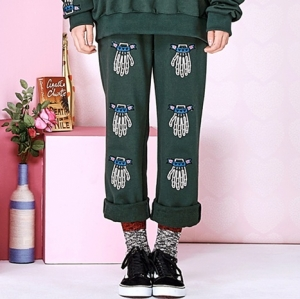 VVV FINGERS SWEAT PANTS (GREEN)