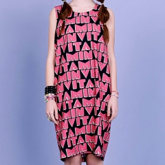 VITAMIN SLEEVELESS DRESS - PINK