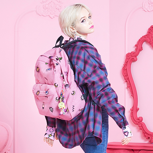 VVV MIRACLE CHARMS EMBROIDERED PINK BACKPACK