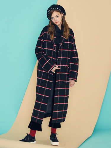 VVV BLACK MOHAIR LONG COAT