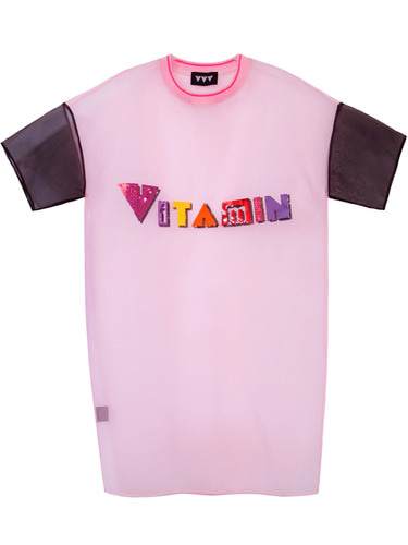 VITAMIN LOGO DRESS - PINK