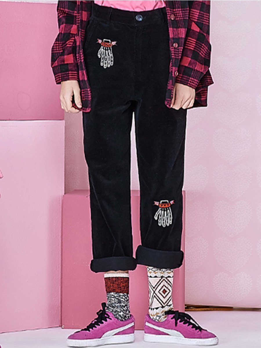 VVV FINGERS CORDUROY PANTS (BLACK)